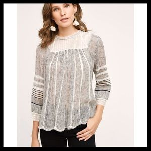 Anthro. Floreat Reina Blouse
